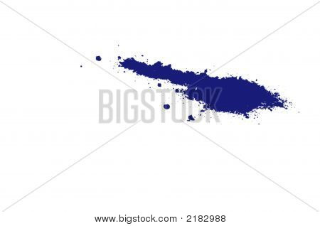 Blue Ink Splatter