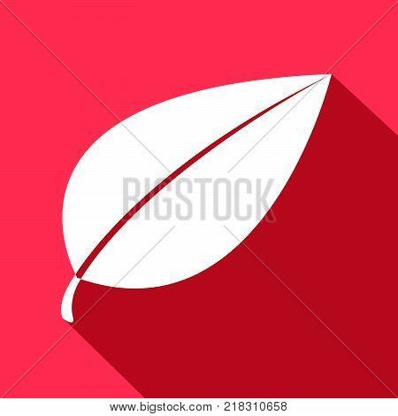 leave icon design inside square red shape