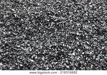 Enriched washed coal anthracite of fine fraction lies in loose form.