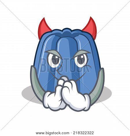 Devil jelly character cartoon style vector illustration
