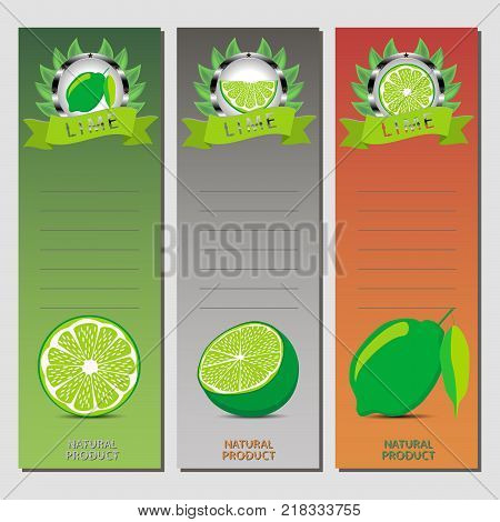 Abstract vector icon illustration logo for whole ripe citrus fruit green lime slice half. Lime pattern consisting of card label natural design citruses food. Eat sweet fresh raw fruits Citrus limes.
