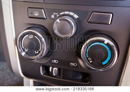 Control switch air conditioning in a car.