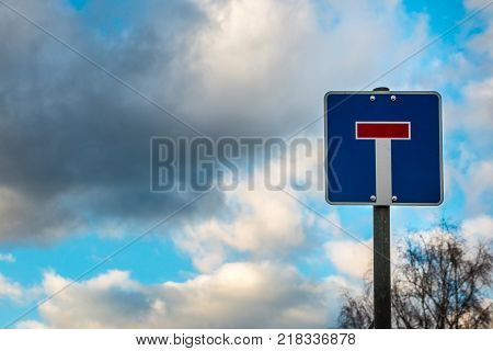 Traffic sign which means that this is a dead-end street