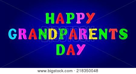 Happy Grandparents day banner. 3d. Stock - Vector illustration