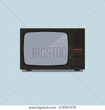 Retro TV 80's vector illustration in flat style