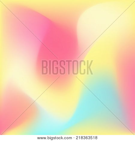 Iridescent light colorful background, vibrant liquid foggy shapes