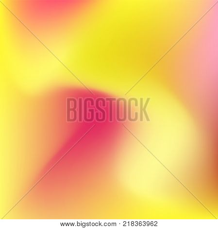 Colorful abstract gradient background of yellow and pink, magical fume