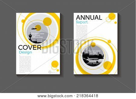 yellow layout abstract and green background modern cover design modern book cover Brochure cover templateannual report magazine and flyer Vector a4
