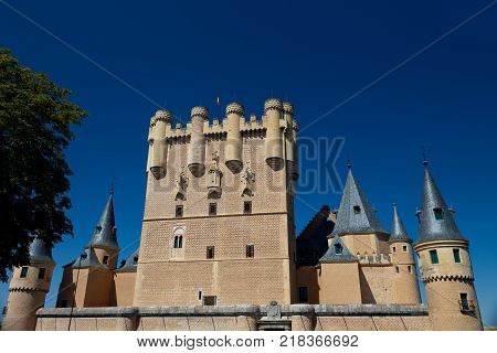 Tower of Juan II of the fantastic castle and residence of kings of the medieval epoch
