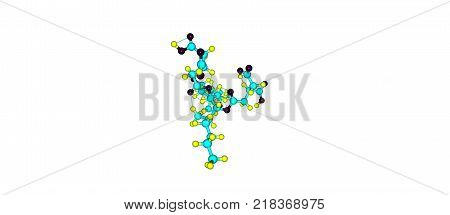 Fumonisin Molecular Structure Isolated On White