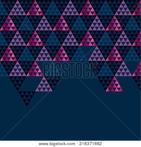 Geometry black header vector illustration. Concept triangle geometric pattern on black background for card, invitation, header print and web design.