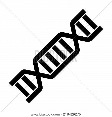 DNA Icon Symbol Design. Flat Vector illustration isolated on white background. DNA helix