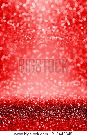 Fancy abstract dark ruby red black glitter sparkle confetti background for happy birthday party invite, Valentine Day love beauty, New Year's Eve banner texture, Christmas coupon or celebrate wedding
