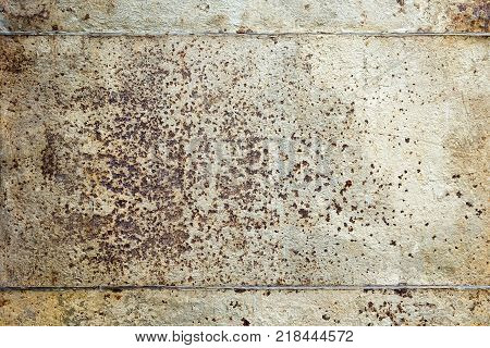 Background Texture Old Iron Wall With A Rivet