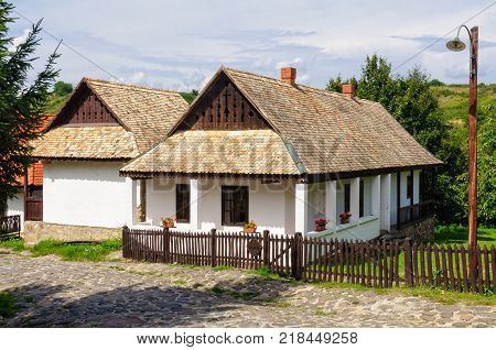 A traditional Paloc farmhouse in the UNESCO World Heritage village - Holloko, Hungary