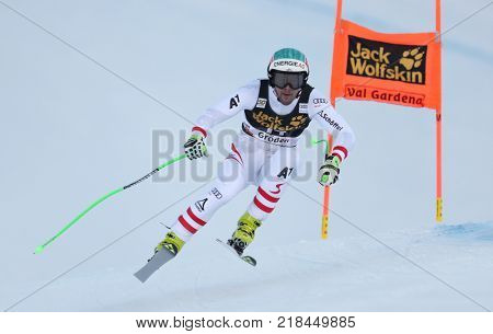 VAL GARDENA, ITALY - DECEMBER 14: Vincent Kriechmayr of Austria races down the Saslong course during the Audi FIS Alpine Ski World Cup Men's Downhill training on December 14 2017