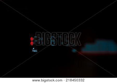 Digital radio band isolated on black background