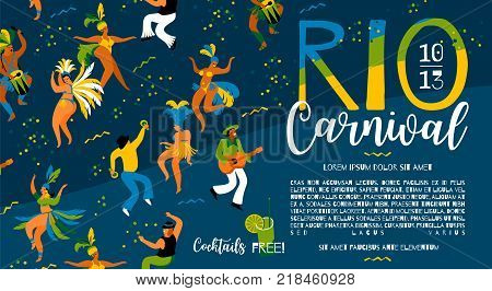 Brazil carnival. Vector template for carnival concept and other users.