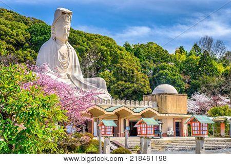 Kyoto, Japan spring at Ryozen Kannon.