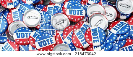 vote election on a white background 3D illustration 3D rendering