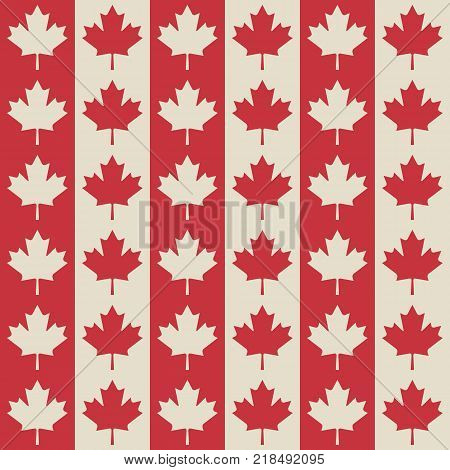 canadian flag symbols seamless pattern. vector illustration - eps 8