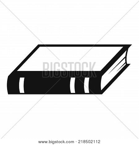 Book biology icon. Simple illustration of book biology vector icon for web
