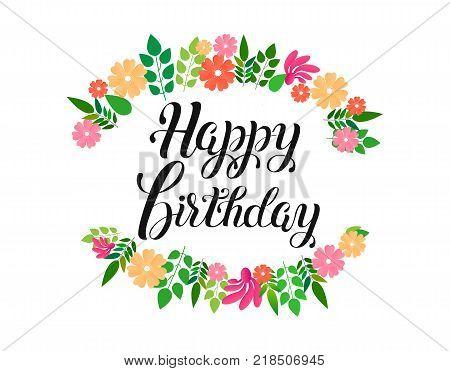 Happy Birthday Vector Vector Photo Free Trial Bigstock