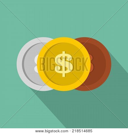 Making coin icon. Flat illustration of making coin vector icon for web