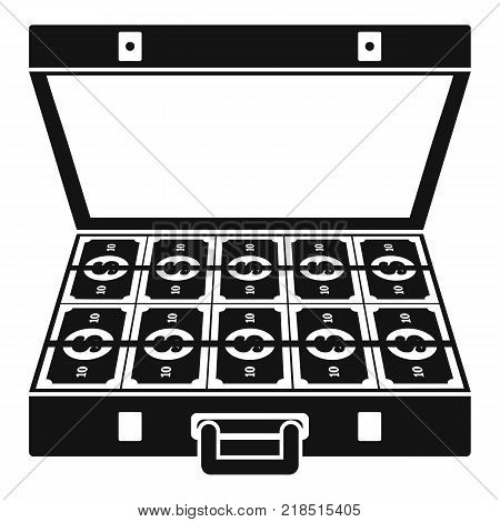 Suitcase money icon. Simple illustration of suitcase money vector icon for web