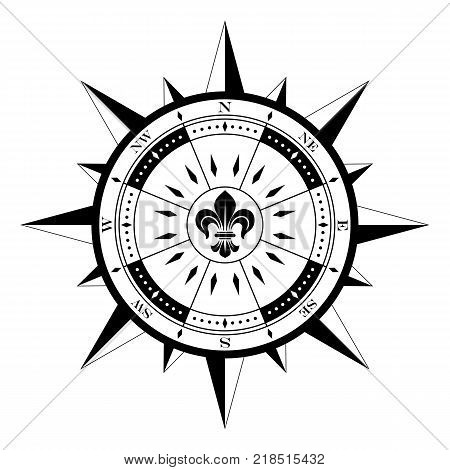 compass rose compassrose wind rose polar star magnetic marine navigation isolated background vector eps