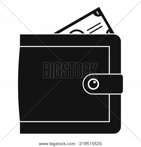 Purse pay icon. Simple illustration of purse pay vector icon for web
