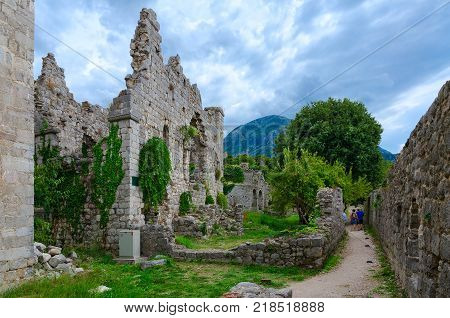 Ruins of Old Bar in the highlands Montenegro