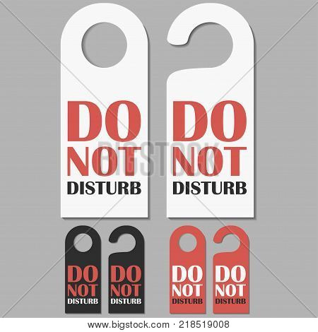 do not disturb signs vector photo free trial bigstock