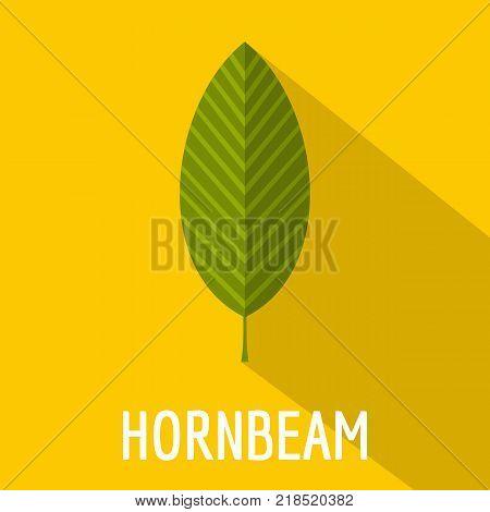 Hornbeam leaf icon. Flat illustration of hornbeam leaf vector icon for web