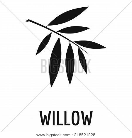 Willow leaf icon. Simple illustration of willow leaf vector icon for web