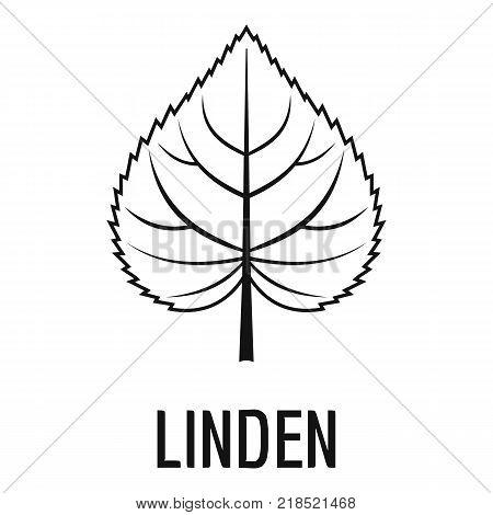 Linden leaf icon. Simple illustration of linden leaf vector icon for web