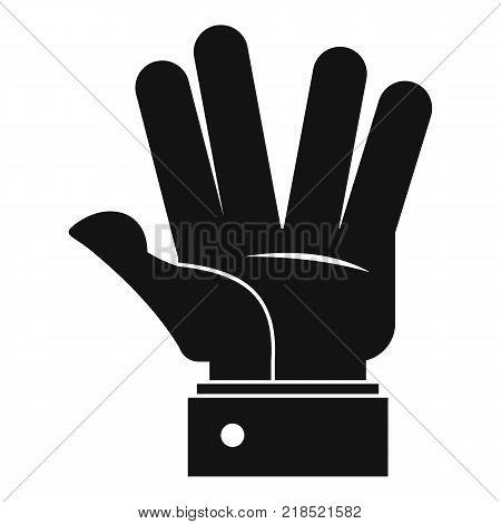 Hand hello icon. Simple illustration of hand hello vector icon for web