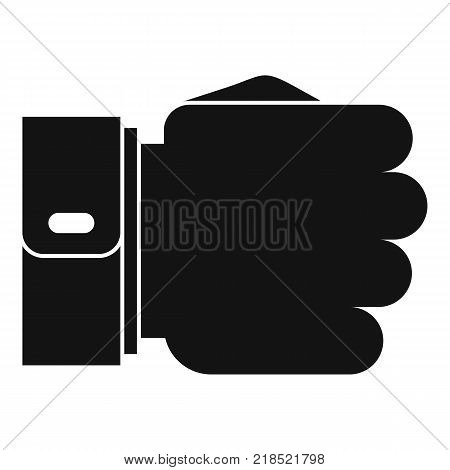 Hand fist icon. Simple illustration of hand fist vector icon for web