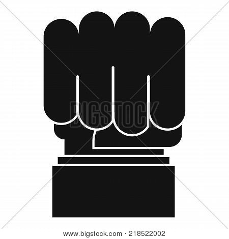 Hand protest icon. Simple illustration of hand protest vector icon for web