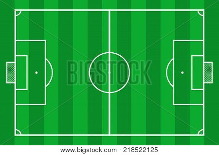 Soccer field. Green grass football court. Mockup background field for sport strategy and poster. Vector illustrator.