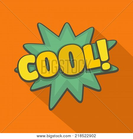 Comic boom cool icon. Flat illustration of comic boom cool vector icon for web