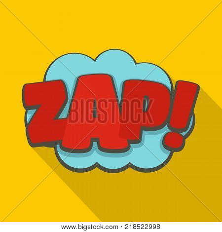 Comic boom zap icon. Flat illustration of comic boom zap vector icon for web