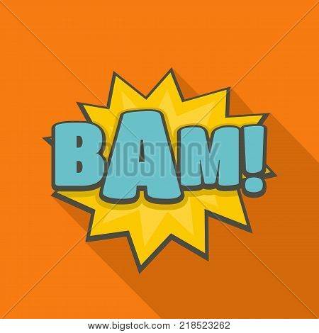 Comic boom bam icon. Flat illustration of comic boom bam vector icon for web