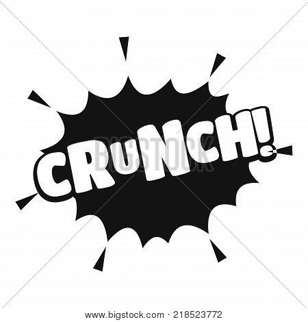 Comic boom crunch icon. Simple illustration of comic boom crunch vector icon for web