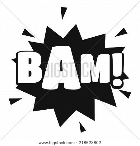 Comic boom bam icon. Simple illustration of comic boom bam vector icon for web