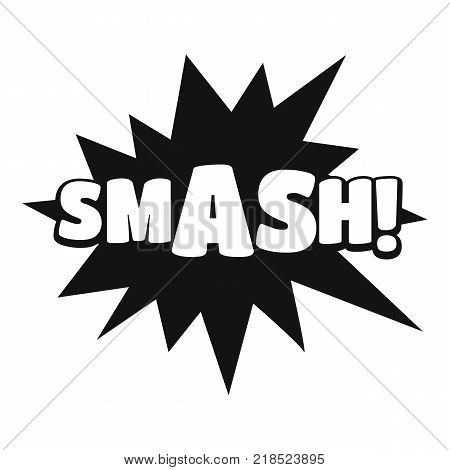 Comic boom smash icon. Simple illustration of comic boom smash vector icon for web