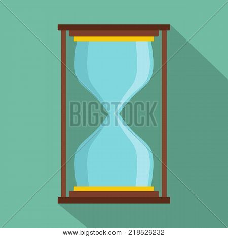 Hourglass icon. Flat illustration of hourglass vector icon for web