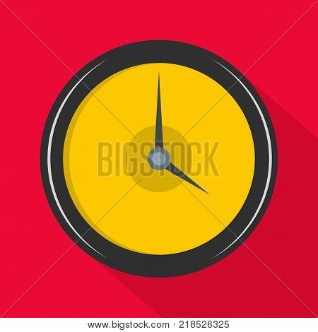 Clock deadline icon. Flat illustration of clock deadline vector icon for web