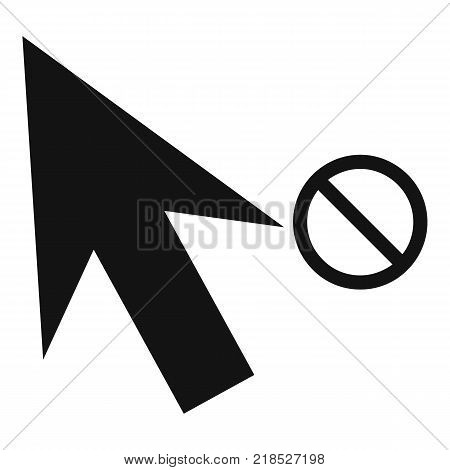 Cursor stop icon. Simple illustration of cursor stop vector icon for web