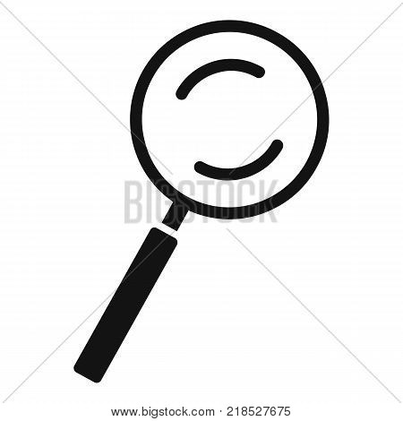 Cursor magnifier element icon. Simple illustration of cursor magnifier element vector icon for web